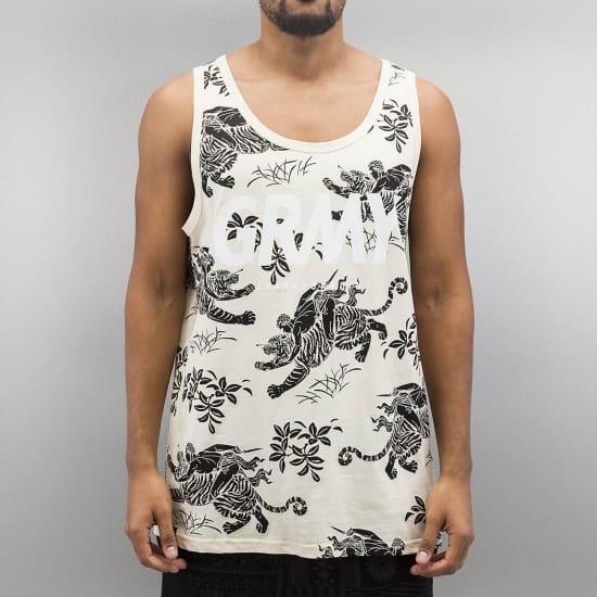 Grimey Wear HUNTER ALL OVER PRINT LOOSE FIT TANK TOP Herren beige