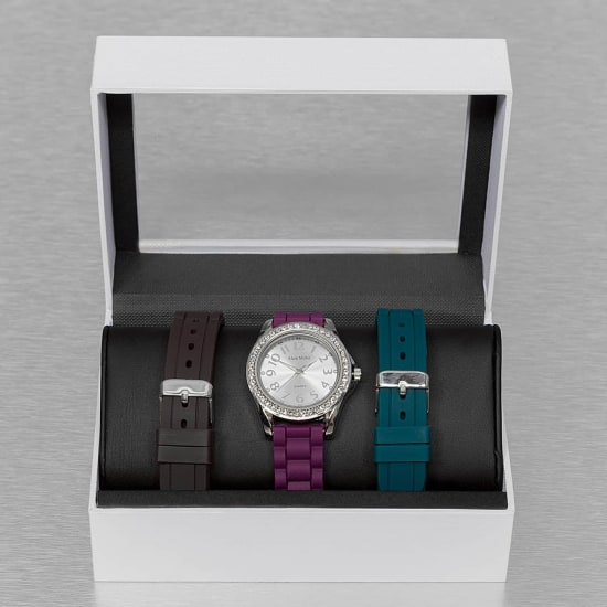 Paris Jewelry SET WATCH Automatikuhr Damen lila