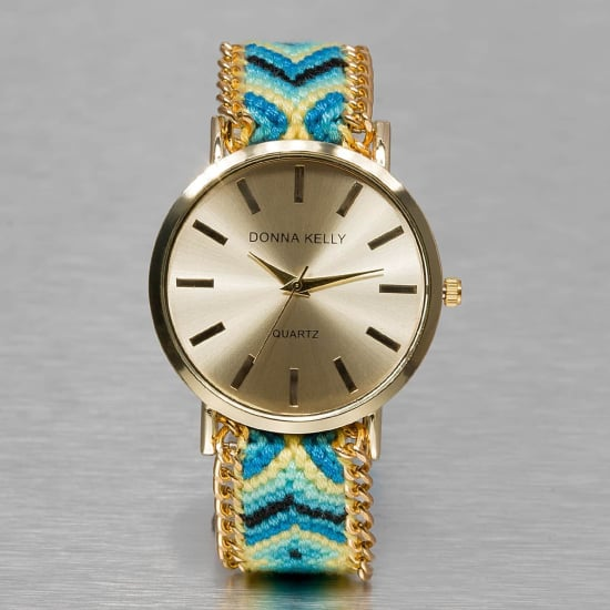 Kaiser Jewelry TEXTIL WATCH Automatikuhr Damen blau