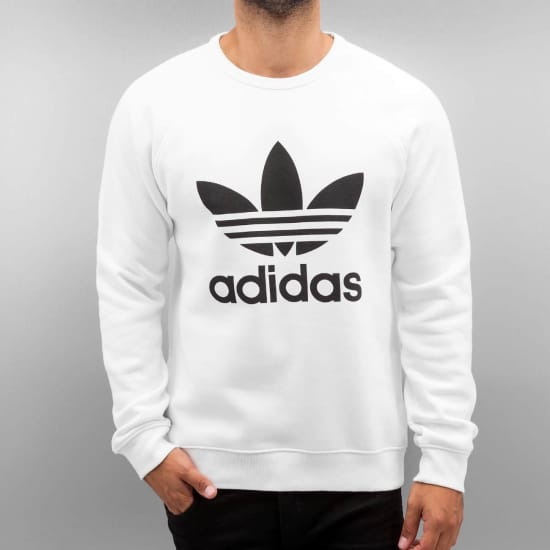adidas trefoil fleece crew sweatshirt herren wei vaola. Black Bedroom Furniture Sets. Home Design Ideas