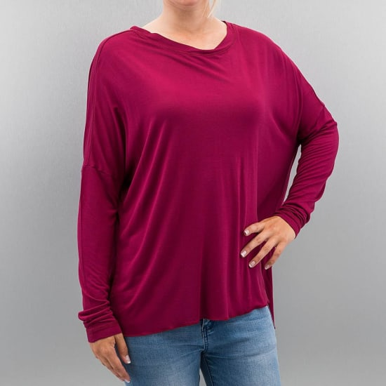Bench PERFORMANCE ADDENDUM OVERSIZE LONGSLEEVE Damen rot