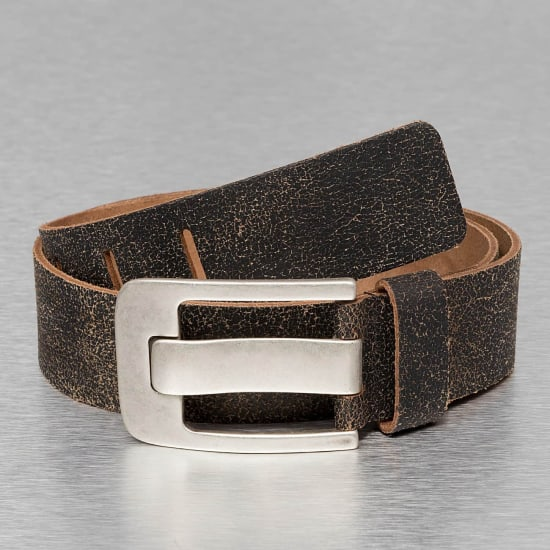 Petrol Industries LEATHER BELT Gürtel Herren schwarz