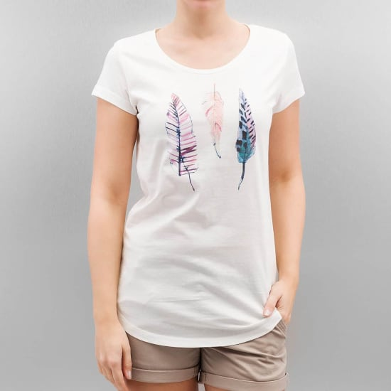 Authentic Style URBAN SURFACE FEATHERS T-Shirt Damen weiß