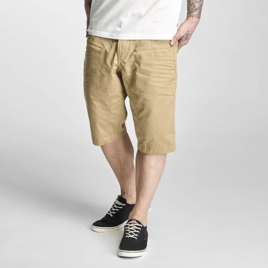 Jack & Jones JJISAC LONG CHINO SHORTS Herren beige