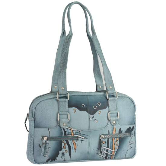 Greenland NATURE Art + Craft Henkeltasche Leder 40 cm Damen lila