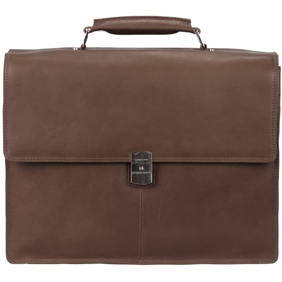 Harold's Country Aktentasche Leder 39 cm Laptopfach Damen braun