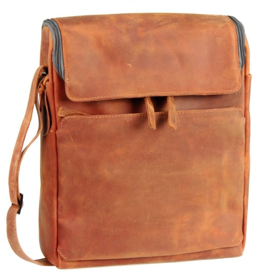 Harold's Campo Laptoptasche Leder 28 cm Herren orange