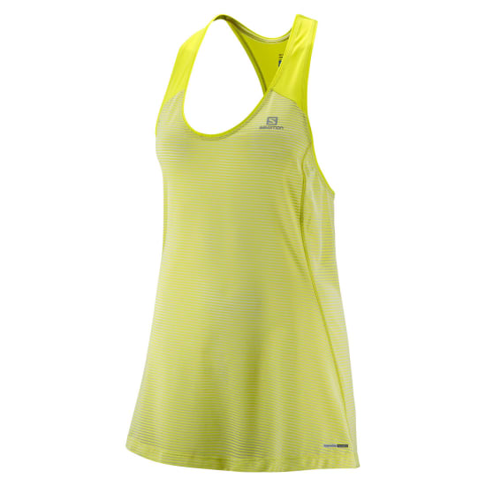 Salomon ELEVATE TANK TUNIC Lauftop Damen gold