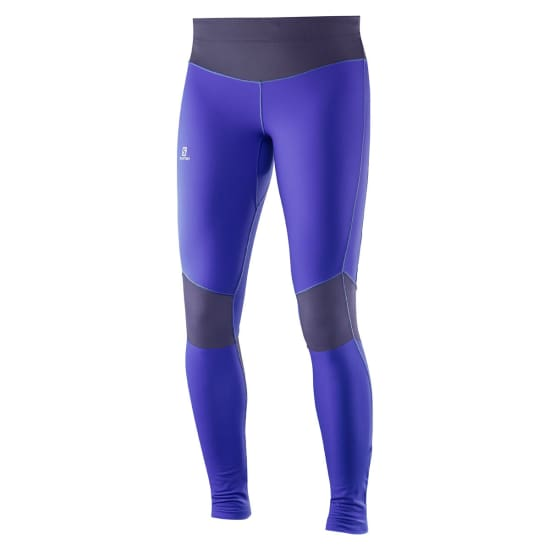 Salomon ELEVATE WARM TIGHT Lauftight Damen lila