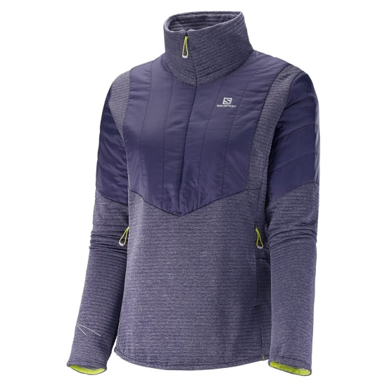Salomon ELEVATE WARM HZ JACKET Laufjacke Damen lila
