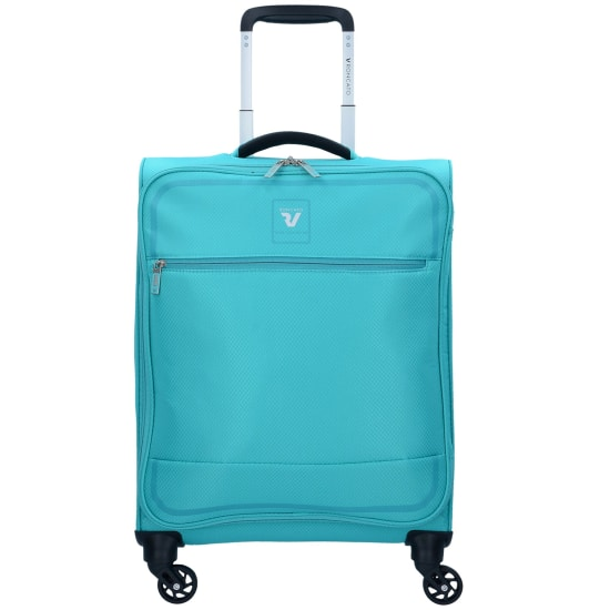 Roncato REAL LIGHT 4-ROLLEN KABINEN TROLLEY 55 CM türkis