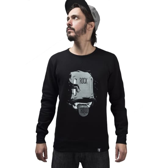 The Dudes ROCK N ROLL SWEATSHIRT Pullover Herren schwarz