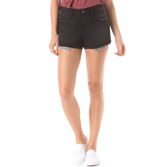 Element RIVER SHORTS Jeans Damen schwarz