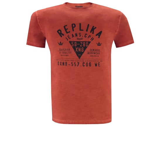 Replika Jeans T-SHIRT Herren orange