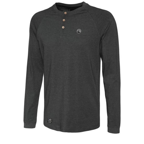Lakeville Mountain Henley Manches longues Hommes gris