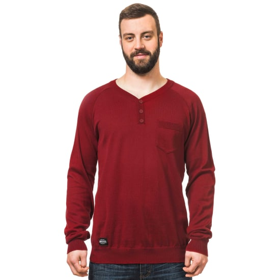 Horsefeathers BRODY STRICK PULLOVER Herren rot