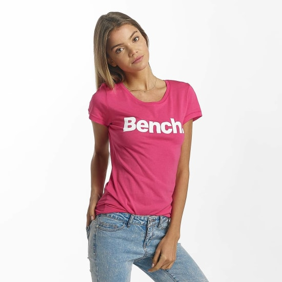 Bench T-Shirt SLIM LOGO Damen pink