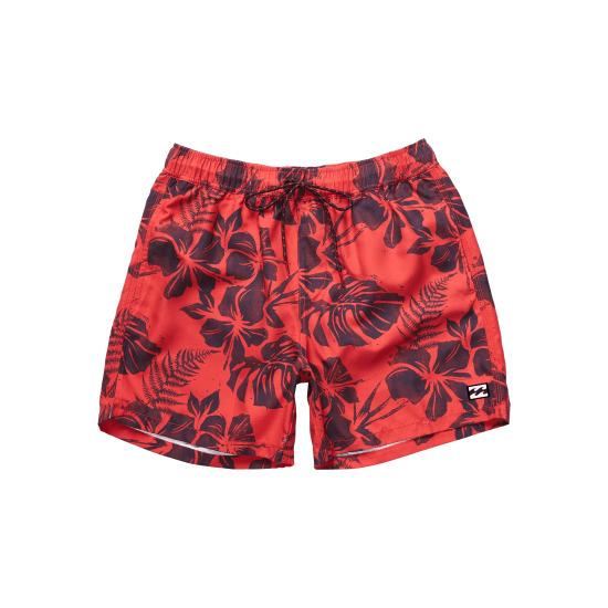 Billabong ALL DAY FLORAL LAYBACK BOARDSHORTS Herren rot