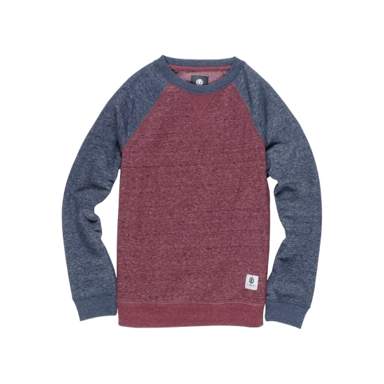 Element MERIDIAN BLOCK CREW SWEATSHIRT Kinder rot