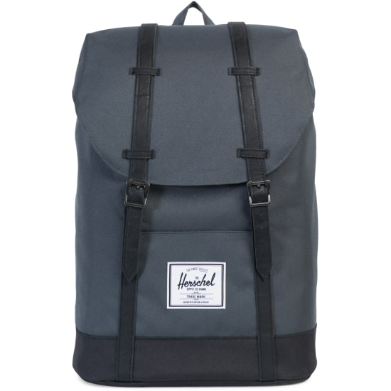 herschel retreat backpack rucksack grau vaola. Black Bedroom Furniture Sets. Home Design Ideas
