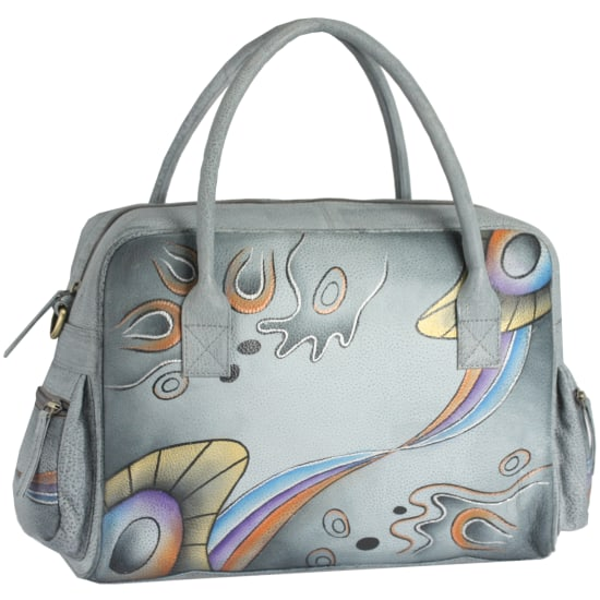 Greenland NATURE Art + Craft Henkeltasche Leder 36 cm Damen multicolor