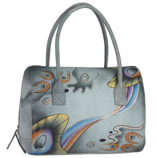 Greenland NATURE Art + Craft Henkeltasche Leder 32 cm Damen multicolor