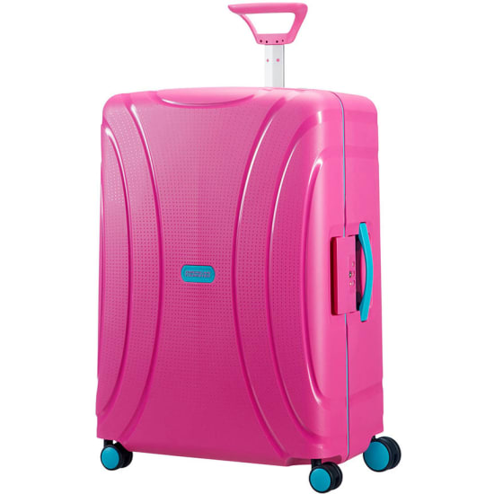 American Tourister LOCK N ROLL 4-ROLLEN-TROLLEY 69/25 Koffer pink