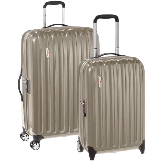 Hardware Profile Plus 2teiliges Set Koffer-Trolleys mit 2/4 Rollen (Zwillingsrollen) Kinder beige