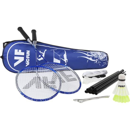Vicfun HOBBY BADMINTON SET ADVANCED blau