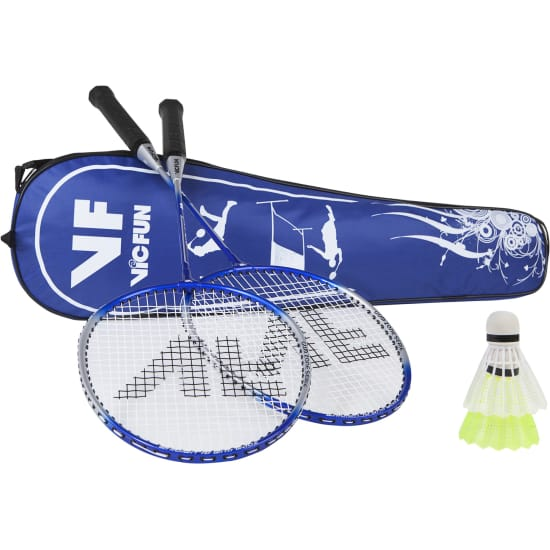 Vicfun HOBBY BADMINTON SET ADVANCED MIT NETZ blau