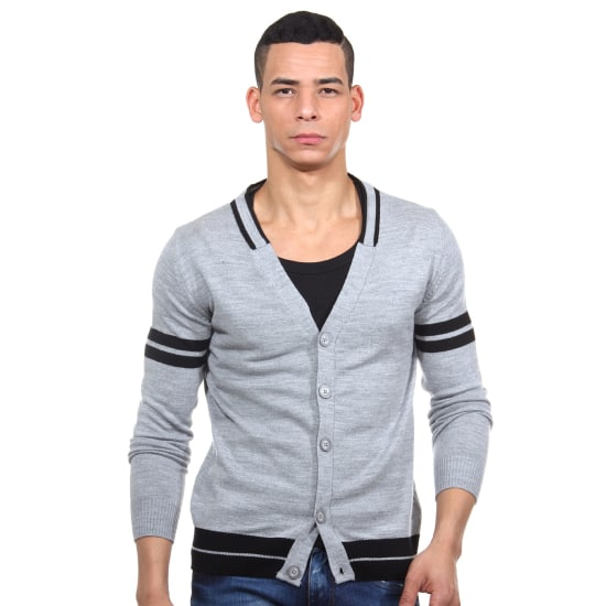 MCL Cardigan regular fit Herren grau