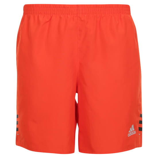 adidas Short de running Hommes orange-noir