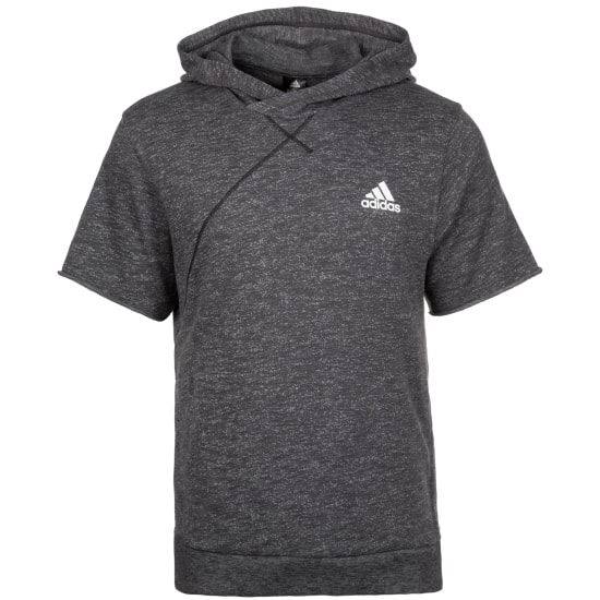 adidas CROSS-UP KAPUZENPULLOVER Basketballshirt Herren grau