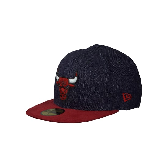 New Era| 59FIFTY - DENSUEDE CHICAGO BULLS DENIM TEAM blau