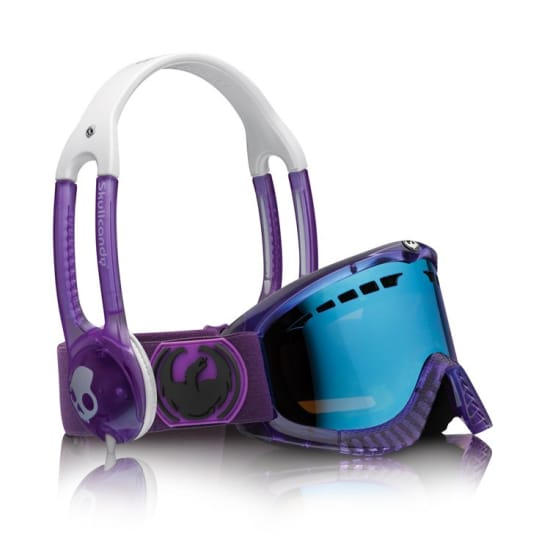 Dragon DXS SKULLCANDY CO-OP PURPLE / BLUE STEEL + LENS Snowboardbrille lila