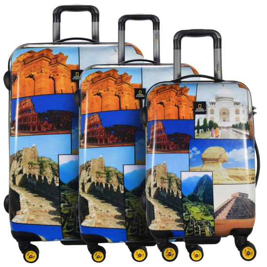 National Geographic ADVENTURE OF LIFE HERITAGE KOFFER SET 3TLG. Trolley multicolor