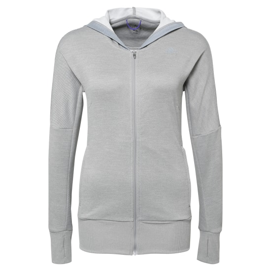 adidas BEYOND THE RUN LAUFKAPUZENPULLOVER DAMEN Kapuzenshirt Damen grau