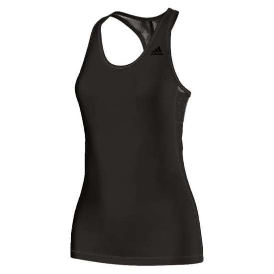 adidas ATHLETIC TANK Lauftop Damen schwarz