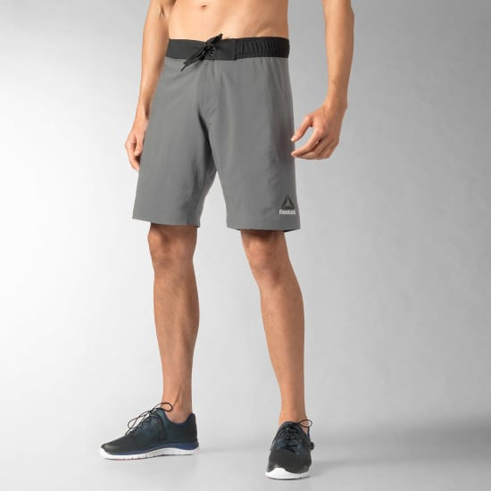 Reebok Workout Brd Short de running Hommes gris