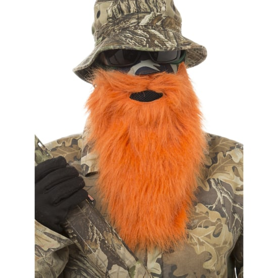 Beardski Skimaske mit Bart - Hunter Camouflage orange