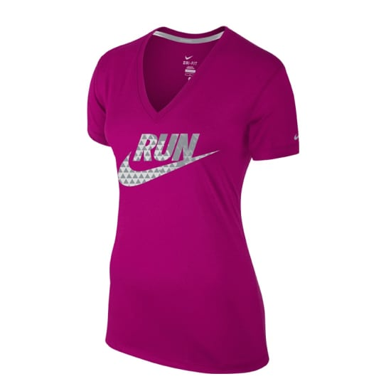 Nike LEGEND V-NECK SS RUN SWOOSH TEE Funktionsshirt Damen pink
