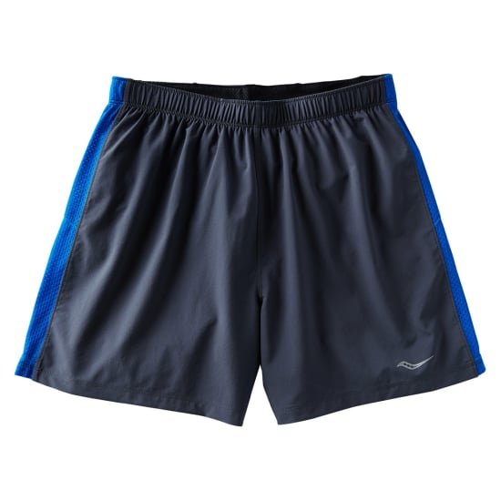 Saucony THROTTLE SHORT Laufshorts Herren schwarz