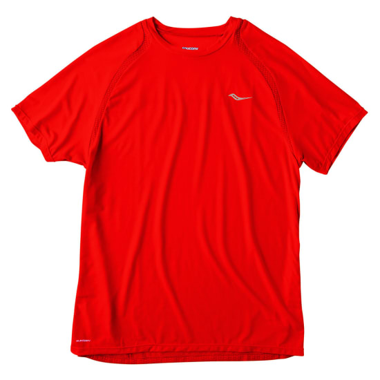 Saucony Freedom Short Sleeve Shirt de running Hommes rouge