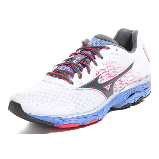 Mizuno Chaussures running femme WAVE INSPIRE 11 blanc-pourpre-rouge