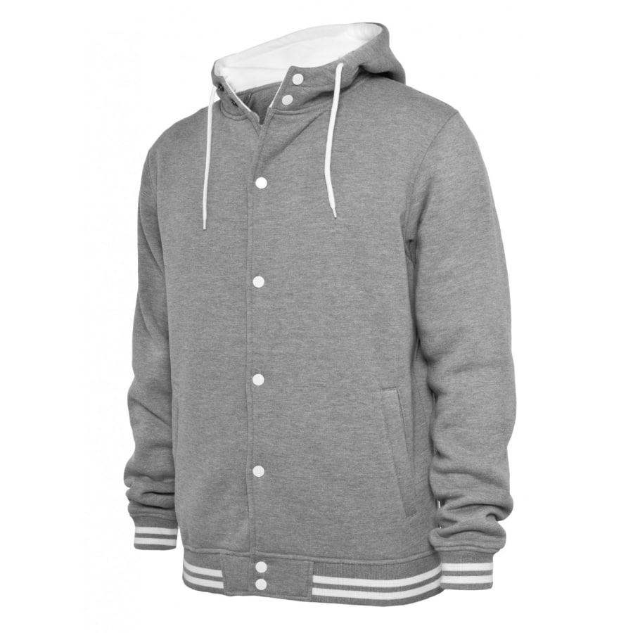 Urban Classics Hooded College Sweatjacket TB288 Trainingsjacke Herren grau 9b22dbe1ce