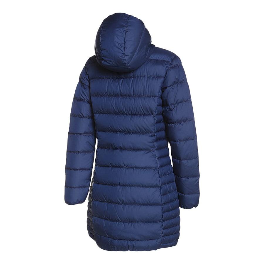 cmp fix hood melange coat daunenmantel damen blau. Black Bedroom Furniture Sets. Home Design Ideas