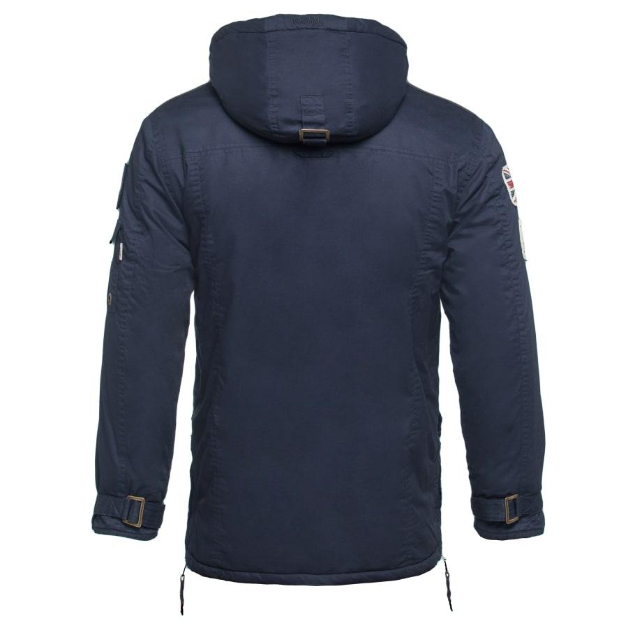 lonsdale london jacket south shields parka herren blau. Black Bedroom Furniture Sets. Home Design Ideas