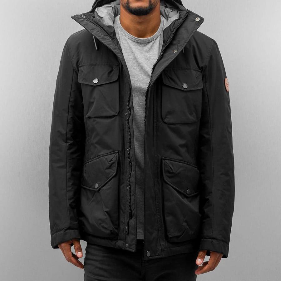 reell jeans field jacket winterparka herren schwarz. Black Bedroom Furniture Sets. Home Design Ideas