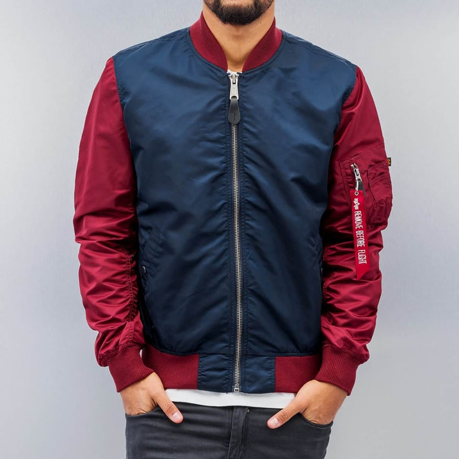 alpha industries ma 1 2c bomber jacket herren blau vaola. Black Bedroom Furniture Sets. Home Design Ideas