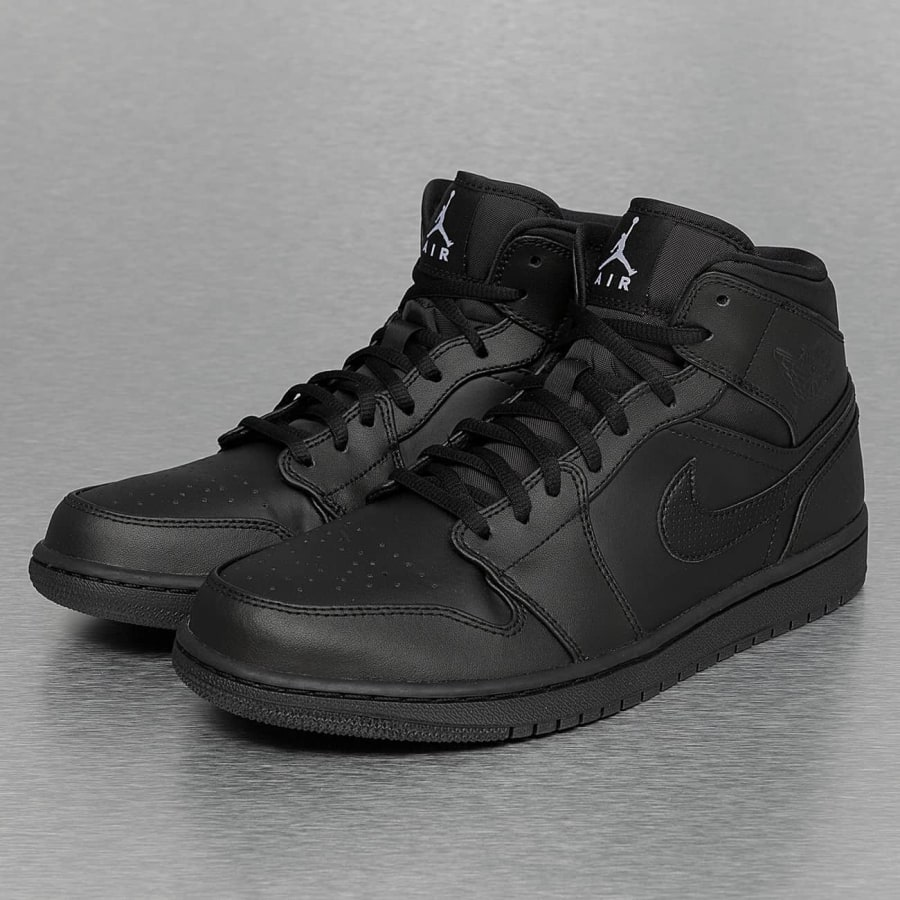 jordan 1 mid sneakers herren schwarz vaola. Black Bedroom Furniture Sets. Home Design Ideas